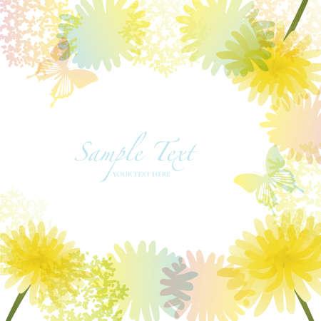fluff: dandelion frame Illustration