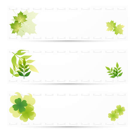 green leaves background set Vector