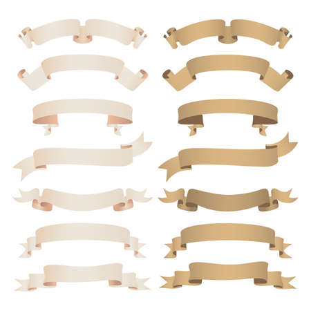 banner craft: set of kraft paper ribbon
