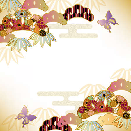 japanese apricot: japanese motif background Illustration