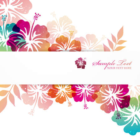 hibiscus background  イラスト・ベクター素材