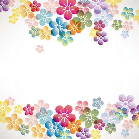 colorful flower background Ilustrace