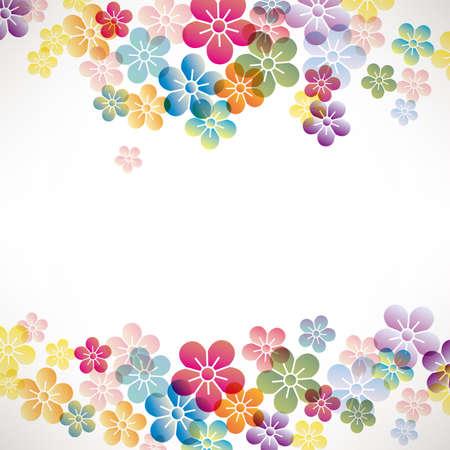 japanese apricot flower: colorful flower background Illustration