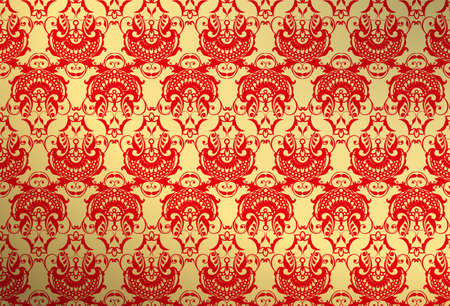 pale: gold and red wallpaper Illustration