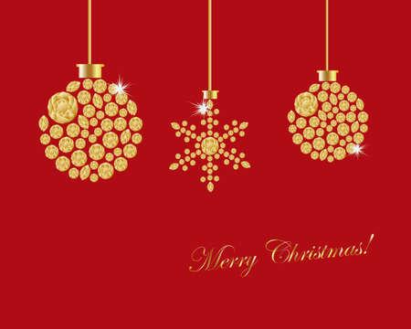 crystallization: christmas ornament background