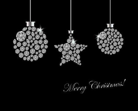joyas de plata: Fondo de Navidad ornamento