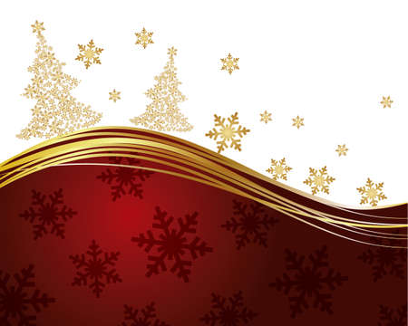 crystallization: christmas tree background