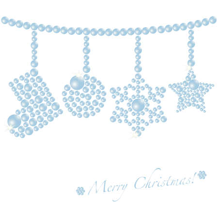 crystallization: christmas ornament Illustration