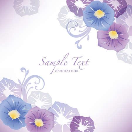 영광: 나팔꽃 배경