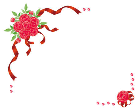 carnation bouquet Vector