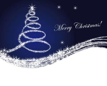 크리스마스 트리 배경 일러스트