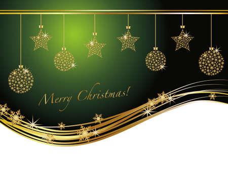 クリスマスの飾りの背景