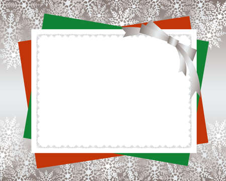 christmas card red background