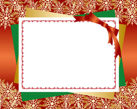christmas card red background Vector