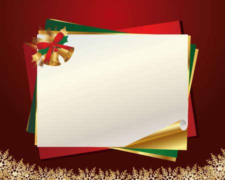 クリスマス メッセージ カード  イラスト・ベクター素材
