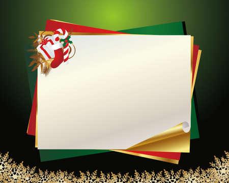 christmas message card Stock Vector - 13341488