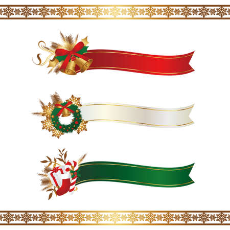 title: christmas ribbon Illustration