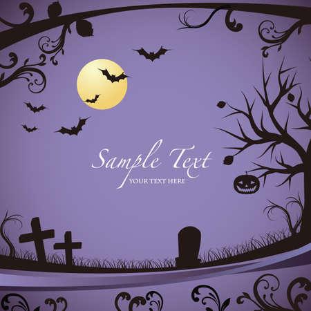 Halloween background Stock Vector - 13341396