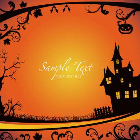 mansion: Halloween background