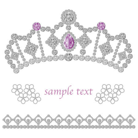 jewelry crown Vector