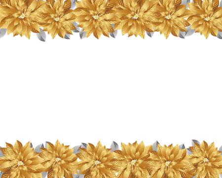 gold poinsettia background Vector