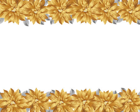 gold poinsettia background Vector
