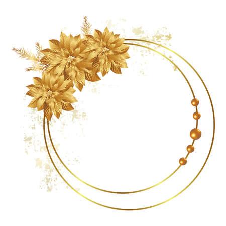 cosmos flower: poinsettia frame