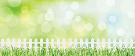 fence and green background Vector