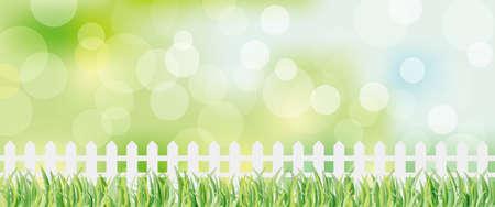 fence and green background Ilustração