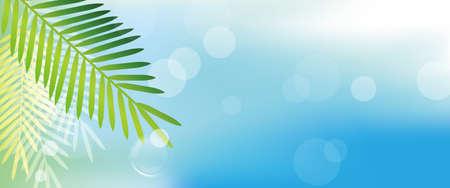 seasides: tropical leaves background Illustration