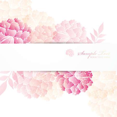 flores chinas: peon�as de fondo