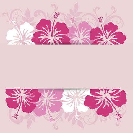 hibiscuses background frame Vector