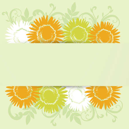 sunflower background frame Vector