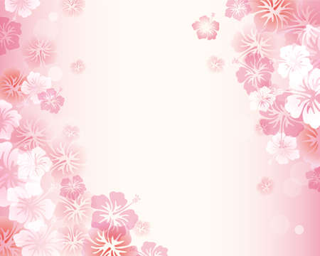 abstract art background: hibiscus background Illustration
