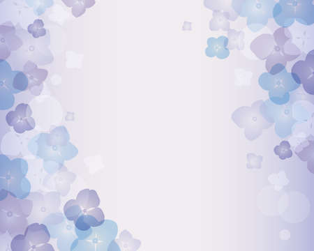 hydrangea background Stock Vector - 13726632