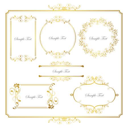 gold frame set Stock Vector - 13726630