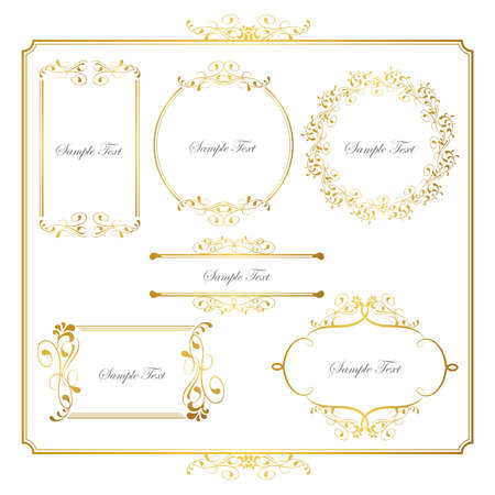 goud frame set Stock Illustratie