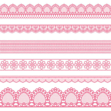 straight lace set Vectores