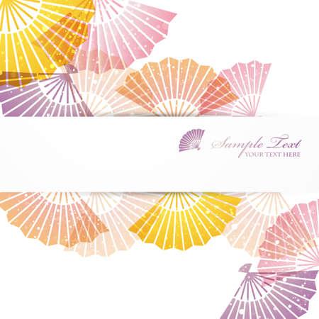 folding fans background