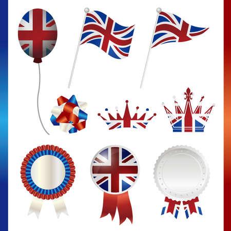 united kingdom union jack set Stock Vector - 13816428