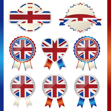 great seal: united kingdom union jack emblem set