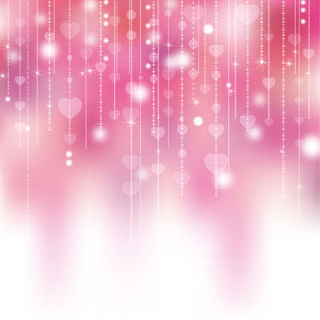 valentines card: heart shines background