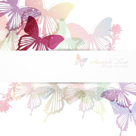butterfly background  Stock Vector - 14016412