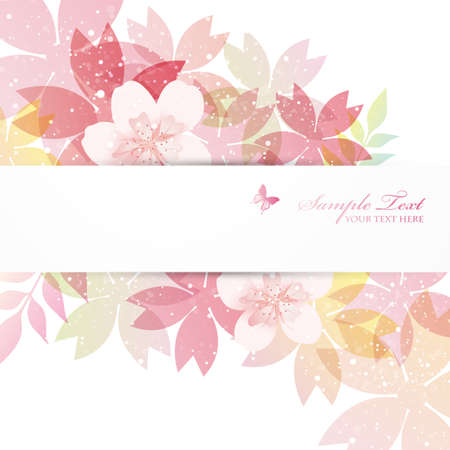 flower card: cherry blossom flowers background Illustration