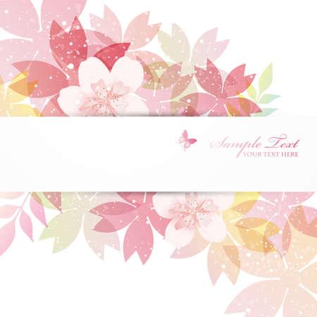 flor cerezo: la flor de cerezo flores de fondo Vectores