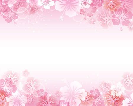 soft background: hibiscus background Illustration