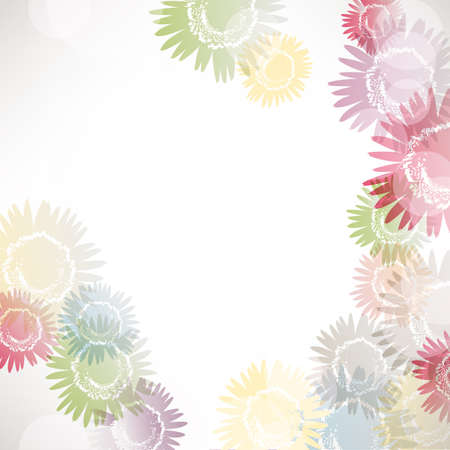colorful sunflower background Vector