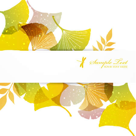 fall background: ginkgoes background