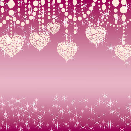 pink bubbles: heart background