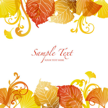pastel background: fallen leaves background Illustration